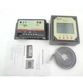 MISOL Solar Regulator 10A 12/24V, with Remote Meter LCD Display SCC-EPIP-C10-M