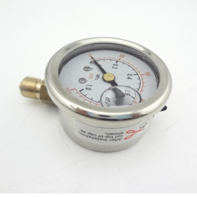 "MISOL 10 UNITS Pressure gauge 140 PSI 10 Bar brass bar, Radial connection, BSP 1/8"", SWH-PG-R-1mp-10"