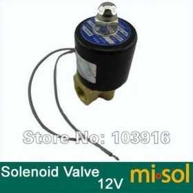 "MISOL 10 UNITS OF New DC 12V Electric Solenoid Valve 1/4"" for Air Water Gas Diesel"