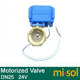 MISOL 10 UNITS OF motorized ball valve DN25 (reduce port), 2 way,24V electrical valve