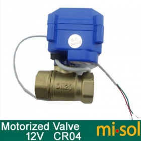 "MISOL motorized ball valve G3/4"" DN20 (reduce port) 2 way 12VDC CR04, electrical valve"