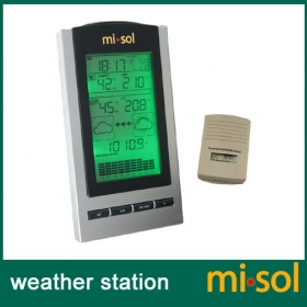 wireless Weather Station with Outdoor Temperature and humidity sensor LCD display, Barometer