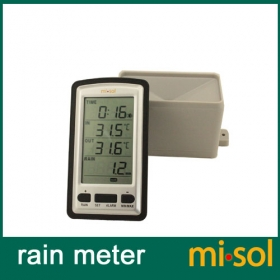 misol wireless rain meter w/ thermometer, rain gauge Weather Station for in/out temperature