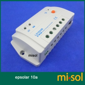 MISOL Epsolar Solar regulator 10A 12V 24V solar charge controller 50V