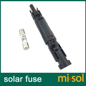 MISOL/1 unit of PV solar fuse 10a 1000VDC fusible 10x38 gPV, with holder MC4 connector