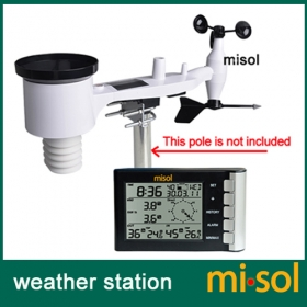 Misol/Professional weather station wind speed wind direction temperature humidity rain 433Mhz